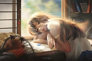魔卡少女樱 美少女 床 手机 白色袜子 4k动漫壁纸