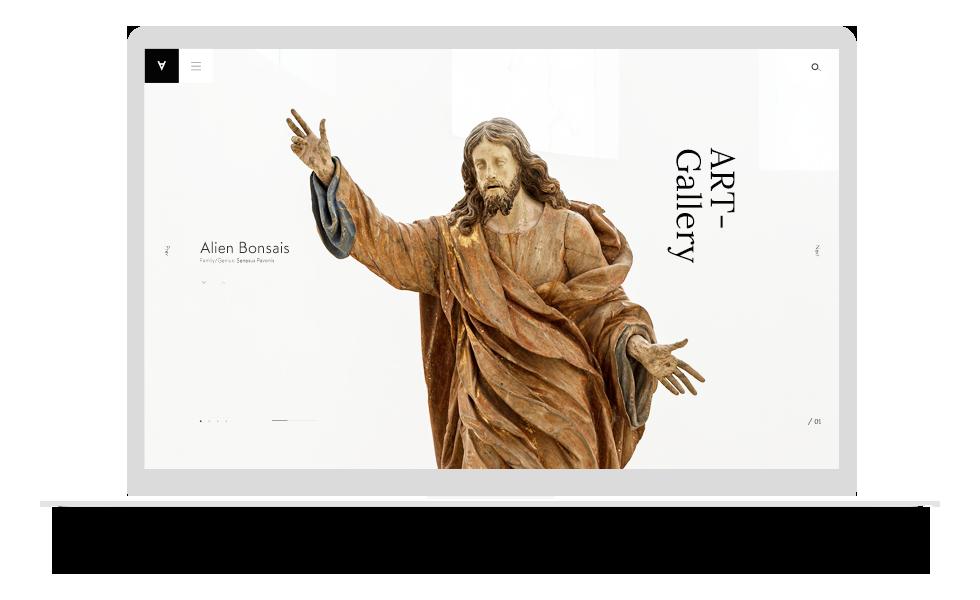 陈列展示型网站模板
